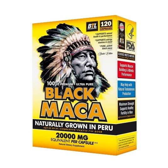 Organic Black Maca Root from Peru Extract 120 capsules
